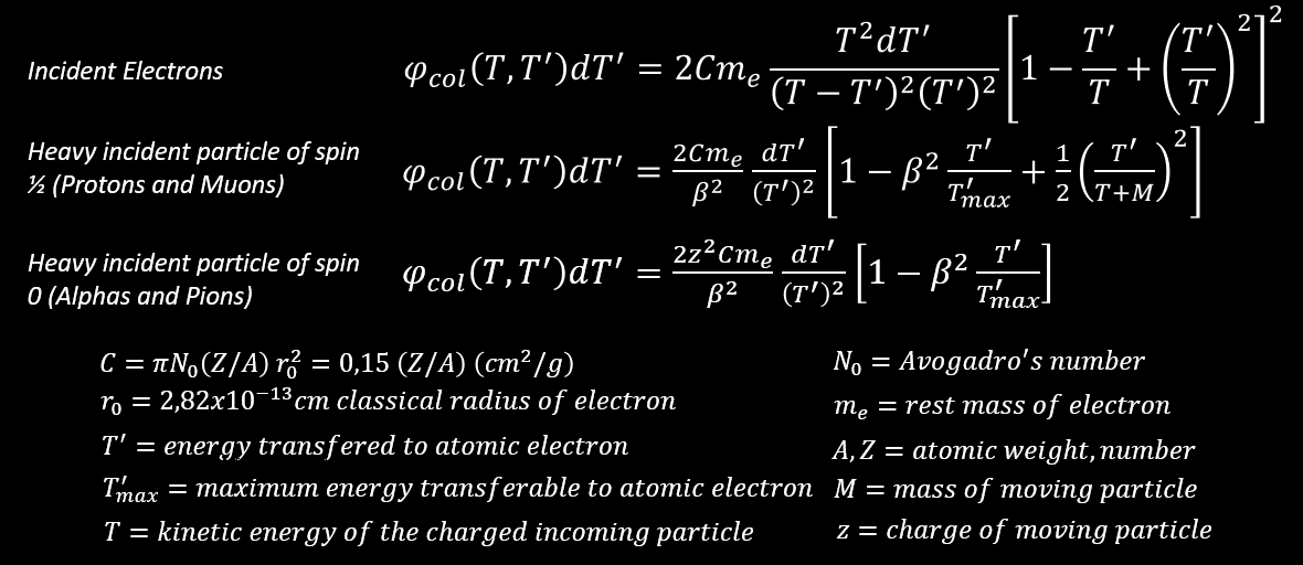 collision probability with free electrons