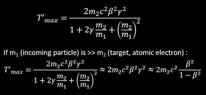 max energy transfercollision on free atomic electron